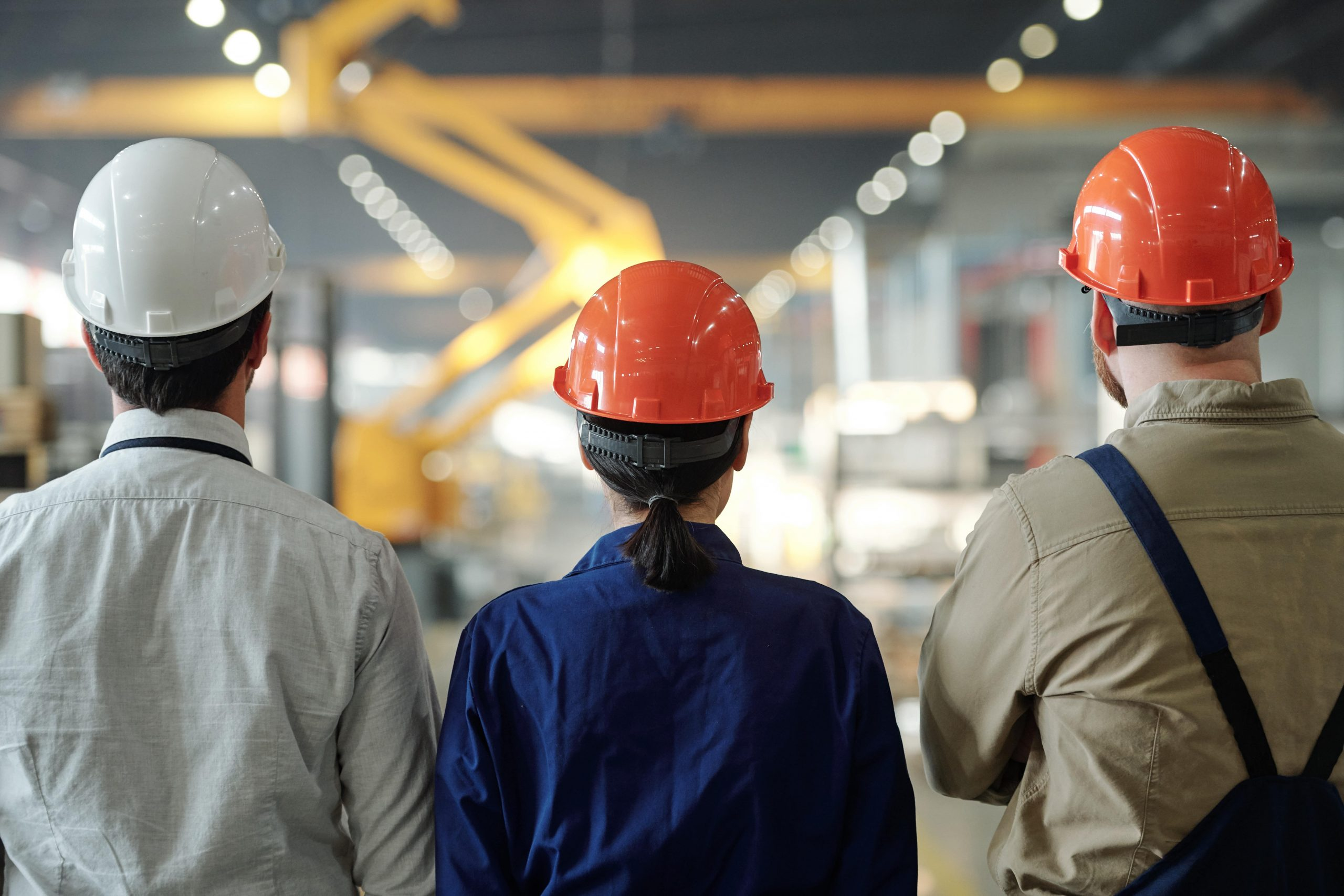 Manufacturing industries image with workers